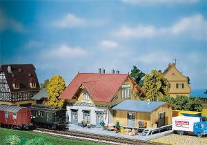 Модель небольшого станции Blumenfeld.Пр-во FALLER.Арт.110097.Масштаб НО (1:87).