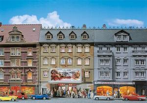 Модель городского дома с кинотеатром Belaria.Пр-во FALLER.Арт.130449.Масштаб НО (1:87).
