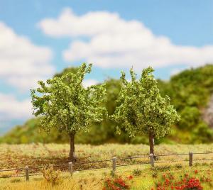 Модель 2 дерева яблони.Пр-во FALLER.Арт.181213.Масштаб НО (1:87).