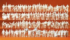 Сет модель из 120 некрашенных фигурок людей,различных профессий.Пр-во PREISER.Арт.16326.Масштаб HO (1:87).