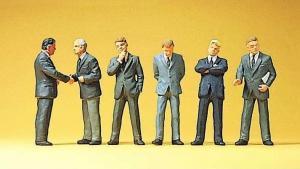 Сет модель фигурок бизнесменов.Пр-во PREISER.Арт.10380.Масштаб HO (1:87).