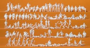 Сет модель 120 некрашенных фигурок тематики