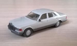 Модель автомобиля MB 500SE.Пр-во WIKING.Масштаб НО (1:87).
