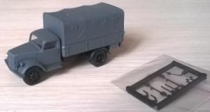 Модель Opel Blitz,вариант борт-тент.Пр-во MILITARY-АМА.Масштаб НО (1:87).