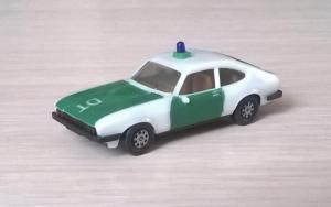 Модель автомобиля Ford Capri Ghia 3.0 POLIZEI.Пр-во HERPA.Масштаб НО (1:87).