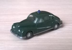 Модель автомобиля BMW 501 с маячком POLIZEI.Пр-во WIKING.Масштаб НО (1:87).
