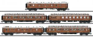 Модель 5-ти вагонного сета пассажирских вагонов CIWL Orient-Express.Пр-во ТRIX.Арт.24793.Масштаб НО (1:87).