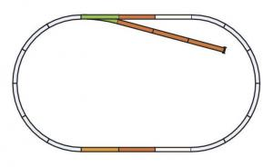 Набор расширяющий овал рельс Set B.Пр-во PIKO.Арт.55310.Масштаб НО (1:87).