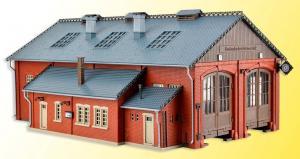 Модель двухстойлового депо с открывающимися дверьми.Пр-во Vollmer.Арт.45753.Масштаб НО (1:87).