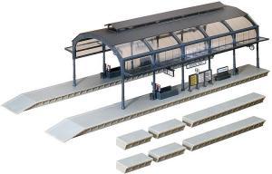 Модель крытого перрона вокзала,и малых перронов открытых.Пр-во FALLER.Арт.120180.Масштаб НО (1:87).