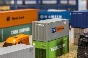 Модель 20-футового контейнера компании P&O Nedlloyd.Пр-во FALLER.Арт.180824.Масштаб НО (1:87).