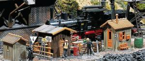 Модель 3-х деревянных будок обходчиков.Пр-во FALLER.Арт.120140.Масштаб НО (1:87).