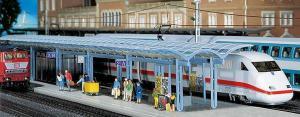 Модель современного перрона с крышей для поездов ICE.Пр-во FALLER.Арт.120193.Масштаб НО (1:87).