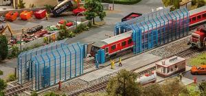 Модель современной мойки для вагонов/локомотивов.Пр-во FALLER.Арт.120208.Масштаб НО (1:87).