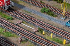 Модель аксессуаров на ж.д. станции.Пр-во FALLER.Арт.120229.Масштаб НО (1:87).
