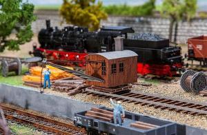 Модель парового крана для обслуживания паровозов.Пр-во FALLER.Арт.120232.Масштаб НО (1:87).