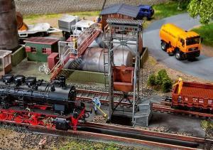 Модель оборудования для выгрузки паровозных шлаков,с сервоприводом.Пр-во FALLER.Арт.120242.Масштаб НО (1:87).