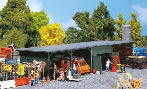 Модель открытого грузового склада.Пр-во FALLER.Арт.120251.Масштаб НО (1:87).