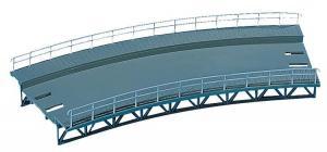 Модель радиусной верхней части (радиус 360мм) для опор моста.Пр-во FALLER.Арт.120475.Масштаб НО (1:87).