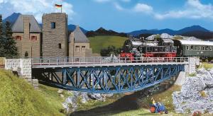 Модель металлического ж/д моста с ездой сверху.Пр-во FALLER.Арт.120496.Масштаб НО (1:87).