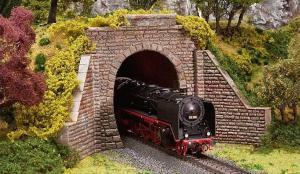 Модель комплекта для строительства однопутного/двухпутного туннельного портала.Пр-во FALLER.Арт.120559.Масштаб НО (1:87).