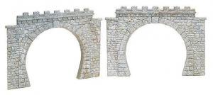 Комплект двухпутных туннельных порталов (2шт).Пр-во FALLER.Арт.120565.Масштаб НО (1:87).