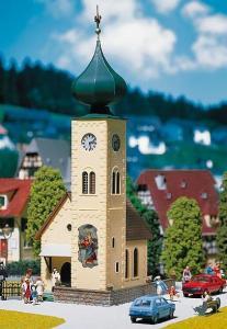 Модель небольшой церкви.Пр-во FALLER.Арт.130238.Масштаб НО (1:87).