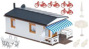 Модель кэмпинга-бунгало со скатной крышей.Пр-во FALLER.Арт.130272.Масштаб НО (1:87).