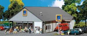 Модель супермаркета ALDI Süd/Nord.Пр-во FALLER.Арт.130339.Масштаб НО (1:87).