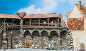 Модель части средневековой стены,в старом городе.Пр-во FALLER.Арт.130404.Масштаб НО (1:87).