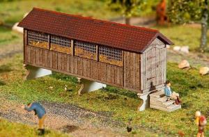 Модель навеса для временного хранения кукурузы.Пр-во FALLER.Арт.130532.Масштаб НО (1:87).