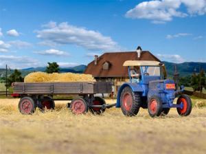 Модель трактора LANZ с прицепом.Пр-ва KIBRI.Арт.12232.Масштаб НО (1:87).