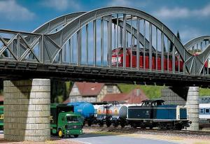 Модель арочной части прямого моста длиной 360мм.Пр-во FALLER.Арт.120536.Масштаб НО (1:87).