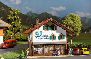 Модель альпийской аптеки Enzian Apotheke.Пр-во FALLER.Арт.130330.Масштаб НО (1:87).