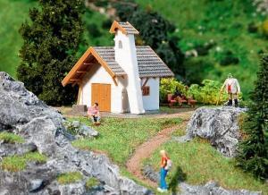 Акция Лето 2020!Модель горной церковной каплички.Пр-во FALLER.Арт.131218.Масштаб НО (1:87).