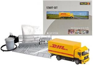 Модель стартового набора системы Car System с 2-х осным грузовиком MAN F2000 evo.Пр-во FALLER.Арт.161607.Масштаб НО (1:87).