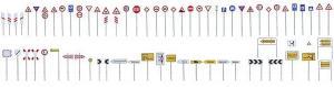 Модель-набор различных дорожных знаков.Пр-во FALLER.Арт.180534.Масштаб НО (1:87).