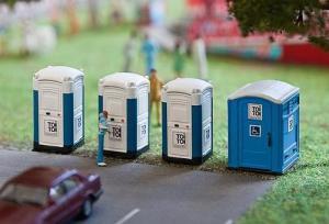 Модель-набор уличных туалетов TOI TOI.Пр-во FALLER.Арт.180543.Масштаб НО (1:87).