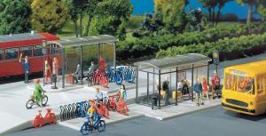 Модель небольшой городской остановки для транспорта City Compact.Пр-во FALLER.Арт.180553.Масштаб НО (1:87).