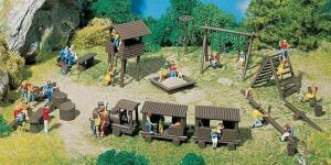 Модель-набор аксессуаров для детской площадки.Пр-во FALLER.Арт.180577.Масштаб НО (1:87).