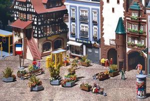 Модель-набор аксессуаров для города.Пр-во FALLER.Арт.180585.Масштаб НО (1:87).
