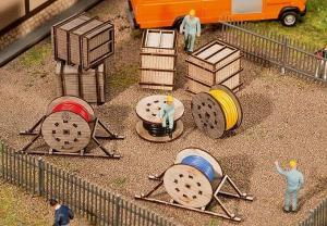 Модель ящиков для транспортировки и кабельных катушек.Пр-во FALLER.Арт.180617.Масштаб НО (1:87).