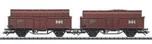 """Модель 2-х вагонного сета вагонов для перевозки кокса """"Max-Hütte"""".Пр-во ТRIX.Арт.24422.Масштаб НО (1:87)."""