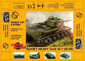 Модель танка IS-1 (IS-85)-для самостоятельной сборки.Пр-во Z@Z.Арт.87094.Масштаб 1:87 (НО).
