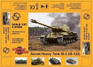 Модель танка IS-2 (IS-122)-для самостоятельной сборки.Пр-во Z@Z.Арт.87095.Масштаб 1:87 (НО).
