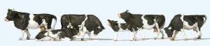 Сет модель фигурок черно-белых коров.Пр-во PREISER.Арт.10145.Масштаб HO (1:87).
