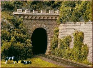 Порталы туннеля однопутные.Пр-во Аухаген.Арт.11342.Масштаб НО (1:87).