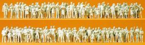 Сет модель из 130-ти некрашенных фигурок прохожих,и зрителей.Пр-во PREISER.Арт.16343.Масштаб HO (1:87).