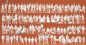Сет модель из 120-ти некрашенных фигурок и аксессуаров для темы ж.д. вокзала.Пр-во PREISER.Арт.16352.Масштаб HO (1:87).
