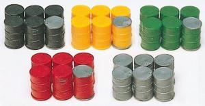Сет модель из 30-ти крашенных моделей бочек 200 литровых.Пр-во PREISER.Арт.17101.Масштаб HO (1:87).
